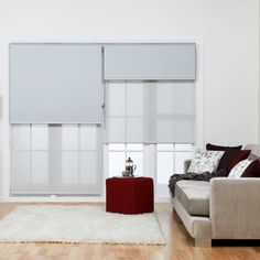Dual layer or double roller blinds with blockout and sunscreen fabric give you everything you need. Barely seen when open. Snugly fitting within the window frame when closed.