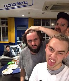 Much love for these idiots ~ ~Sophia #olly #ollyalexander #mikey #mikeygoldsworthy #emre #emreturkmen #dylan #dylanbell #yearsandyears #follow #newmusic