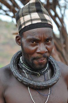 Africa | Portrait of a married Himba man.  Kunene, Namibia | © gvst via flickr