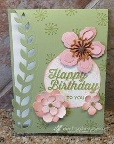 Stamp & Scrap with Frenchie: Botanical Blooms and Perfect Pairings Class in the mail Card Making Inspiration, Making Ideas, Potpourri, Stamping Up Cards, Happy Birthday Cards, Flower Cards, Creative Cards, Greeting Cards Handmade, Homemade Cards