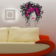 Wall Decals Beautiful Girl Wall Art Stickers by PopDecals, $28.00