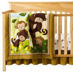 Curly Tails Nursery   piece bedding set curly tails raspberry garden 3pc crib bedding set ...