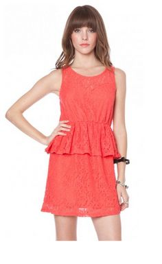 loving this dress! Coral obsession.