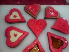 Galletas con forma de Corazón. Entrégale tú Corazón. Feliz san Valentín.