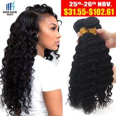 Deep Wave Brazilian Hair 3 Bundles Brazilian Curly Virgin Hair Brazillian Deep Curly Virgin Hair 8A Grade Unprocessed Human Hair