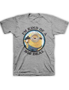 c88b0d8982125 Despicable me Minion Big Deal Men s Heather Grey T-shirt S. Despicable me  Minion Big Deal Men s Heather Grey T-shirt. A polyblend t-shirt featuring a  minion ...