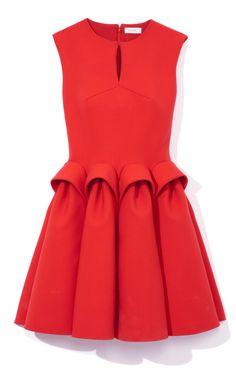 Del Pozo Sleeveless Sculpted Waist Dress