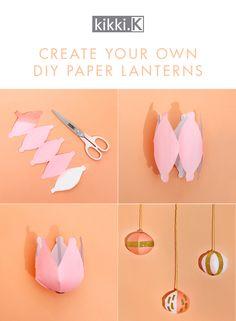 Create your own DIY Paper Lanterns