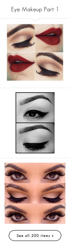 """""""Eye Makeup Part 1"""" by gravityfallsgirl33 ❤ liked on Polyvore featuring makeup, beauty products, eye makeup, eyes, beauty, eyeshadow, maquiagem, make, brow makeup and eyebrow makeup"""
