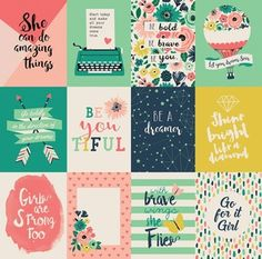 Echo Park > Just Be You > 3 x 4 Journaling Card Paper - Just Be You - Echo Park - PRE ORDER: A Cherry On Top