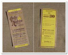 unbelievable invites by Letterform