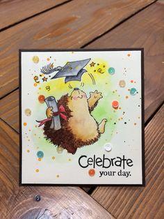 celebrate card! hedgehog❤️
