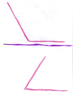Waldorf ~ 5th grade ~ Form Drawing ~ Freehand Geometry ~ #17 Draw an angle which is greater than a right angle and one that is smaller ~ main lesson book