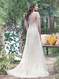 Maggie Sottero Wedding Dress Amal 6MN278 back