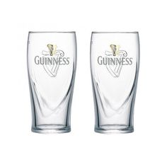 Guinness pint glasses.