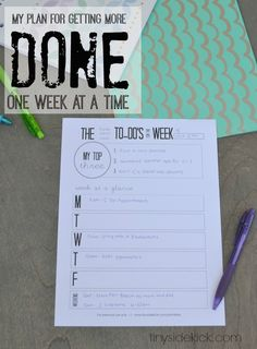 How I've managed to get a few of those not so fun tasks done each week and the free printable that is helping me a ton!  #organization #todolist #weeklygoals #printable