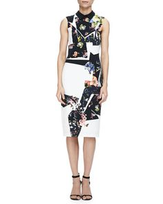 Brennon Printed Shift Dress by Erdem at Neiman Marcus.