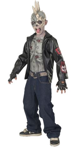 ac827f0b7 Boys Punk Zombie Halloween Costume