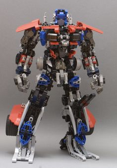 Lego Optimus Prime version) by Johnny Dai: Lego Mecha, Bionicle Lego, Lego Robot, Robots, Lego Transformers, Legos, Technique Lego, Lego Machines, Lego Army