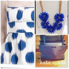 """Kate Spade blue nylon Sam handbag One if my very first Kate Spade's & well loved. Shows some signs of wear, water spots & slight marks or stains. 11"""" length, 7"""" height,  4"""" wide. Non-smoking home. kate spade Bags"""