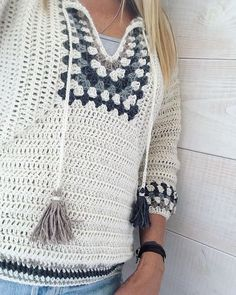 Fabulous Crochet a Little Black Crochet Dress Ideas. Georgeous Crochet a Little Black Crochet Dress Ideas. Moda Crochet, Crochet Yarn, Easy Crochet, Crochet Stitches, Knit Crochet, Free Crochet, Crochet Mandala, Crochet Fringe, Jackets