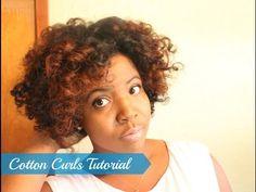 Cotton Curls   Natural Hair Roller Set Tutorial - YouTube #NaturalHair #NaturalHairStyles #NaturalhairTutorials