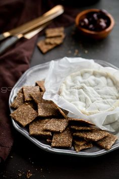 Homemade Flax and Hemp Seed Crackers | Gluten Free and Grain Free     by Sylvie | Gourmande in the Kitchen