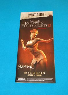 HALLOWEEN HORROR NIGHTS 22 MAP EVENT GUIDE SILENT HILL UNIVERSAL ORLANDO 2012