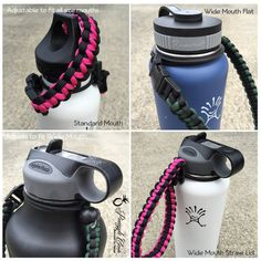 Paracord Handle for Hydro Flask Bottle by PineappleCoveDesigns  #hydroflask #hydroflaskhandles #paracordhandles #paracord