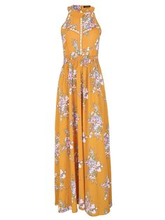 5525a66ff3 Shop a great selection of BerryGo BerryGo Women's Chic Sleeveless Backless  Halter Floral Print Split Maxi Dress. Find new offer and Similar products  for ...