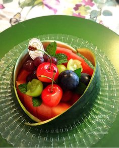 Fruit Cups, Fruit Plate, Fruit Art, Fruit Trays, Veggie Recipes, Cooking Recipes, Veggie Food, Cooking Tips, Vegetable Carving