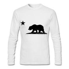 Hot Sale Men's T Shirt Fashion Print California Bear Short Sleeve T-shirt #californiafashion,