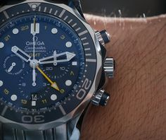 Omega Seamaster 300M Chronograph GMT Co-Axial Watch Hands-On Omega Seamaster Chronometer, Omega Seamaster 007, Seiko Diver, Luxury Watches For Men, Breitling, Chronograph, Omega Watch, Hands, Penne