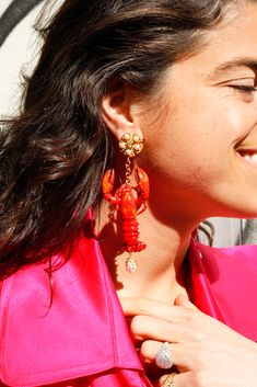 Leandra's making a case for hot pink!