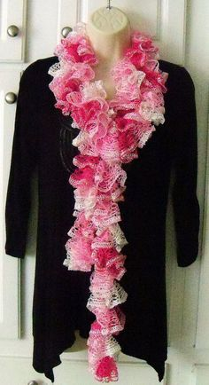 Variegated Breast Cancer  Pink with sequins by SHOPTILLYOUDROPNOW, $25.00
