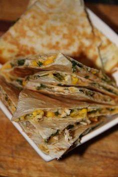 Chicken, Corn & Spinach Quesadillas