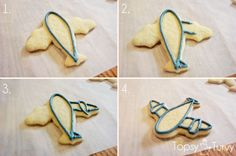 airplane-cookies-color-flow-method-outline by imtopsyturvy.com, via Flickr