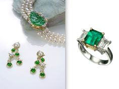 Orlanda Olsen Fine Jewelry Emerald and Pearl drop earrings are featured in this month's May 2013 of WINE and DINE MAGAZINE  Read the article here. Romancing the Stone: The turbulent allure of Colombian emeralds by Laurie Woolever