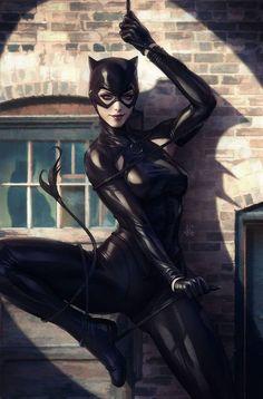 Amazing Catwoman art. #catwoman #Dccomics #cosplayclass