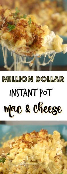 This Million Dollar Instant Pot Mac and Cheese takes the cake for macaroni and cheese! The cheese factor is over the top, al dente pasta, layers of cheese, Instant Pot Pressure Cooker, Pressure Cooker Recipes, Pressure Cooking, Instant Pot Pasta Recipe, Instant Pot Dinner Recipes, Instant Pot Meals, Instant Recipes, Cheese Recipes, Pasta Recipes