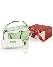 Presente Natura Mamãe e Bebê - Água de Colônia + Lenços Umedecidos + Bolsa Multiuso +  Embalagem