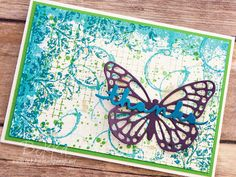 Timeless Textures Butterfly Thank You Card made using Stampin' Up! UK Supplies - get the details here