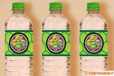 Etichette per bottiglie delle Tartarughe Ninja