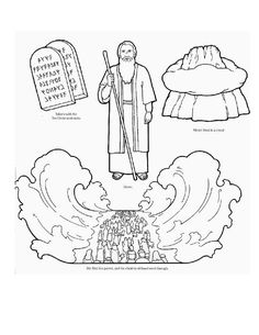 Moses Coloring Pages - Free Printables | Pinterest | Red sea, Sunday ...