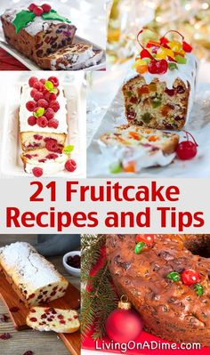 """How To Make Homemade Fruitcake – 21 Recipes and Ideas- Make the perfect fruitcake with these easy homemade fruitcake recipes and basic """"how-to"""" tips to help you make better fruitcake and avoid common (How To Make Christmas Cake) Xmas Food, Christmas Cooking, Christmas Desserts, Christmas Cakes, Christmas Fruitcake, Best Fruitcake, Fruitcake Cookies, Holiday Recipes, Dinner Recipes"""