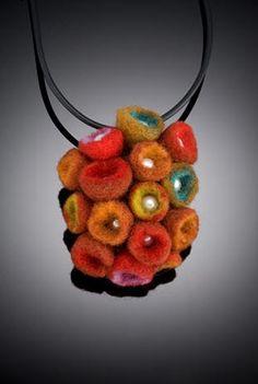 Из шерсти я могу создавать изделия разнообразных и насыщенных цветов , не утяжеляя вес бусины. Иногда я использую артклэй, чтобы завершить мои работы, создавая из…