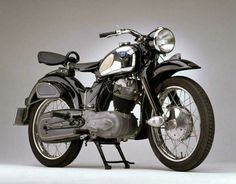"NSU Max 251 motorcycle, 1955. NSU Werke Neckarsulm, Germany. Technoseum, via Europeana. When ""Max"" was launched, experts questioned if a normal motorcyclist could handle the high power of 17 PS."