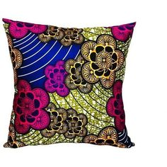 Fem Echo Ankara Fabric Pillow Covers - A Pair ($134) ❤ liked on Polyvore featuring home, home decor, throw pillows, pillows, fabric home decor, european home decor, handmade home decor and set of 2 throw pillows