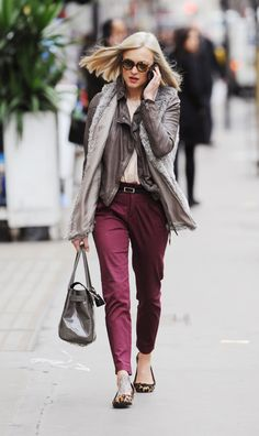 Fearne cotton arriving for work london uk