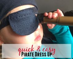 With an Old T-shirt and a few extra supplies this DIY Pirate Dress Up Vest & Eye Patch will be a winner with your kids. Super easy and inexpensive. 30 min.